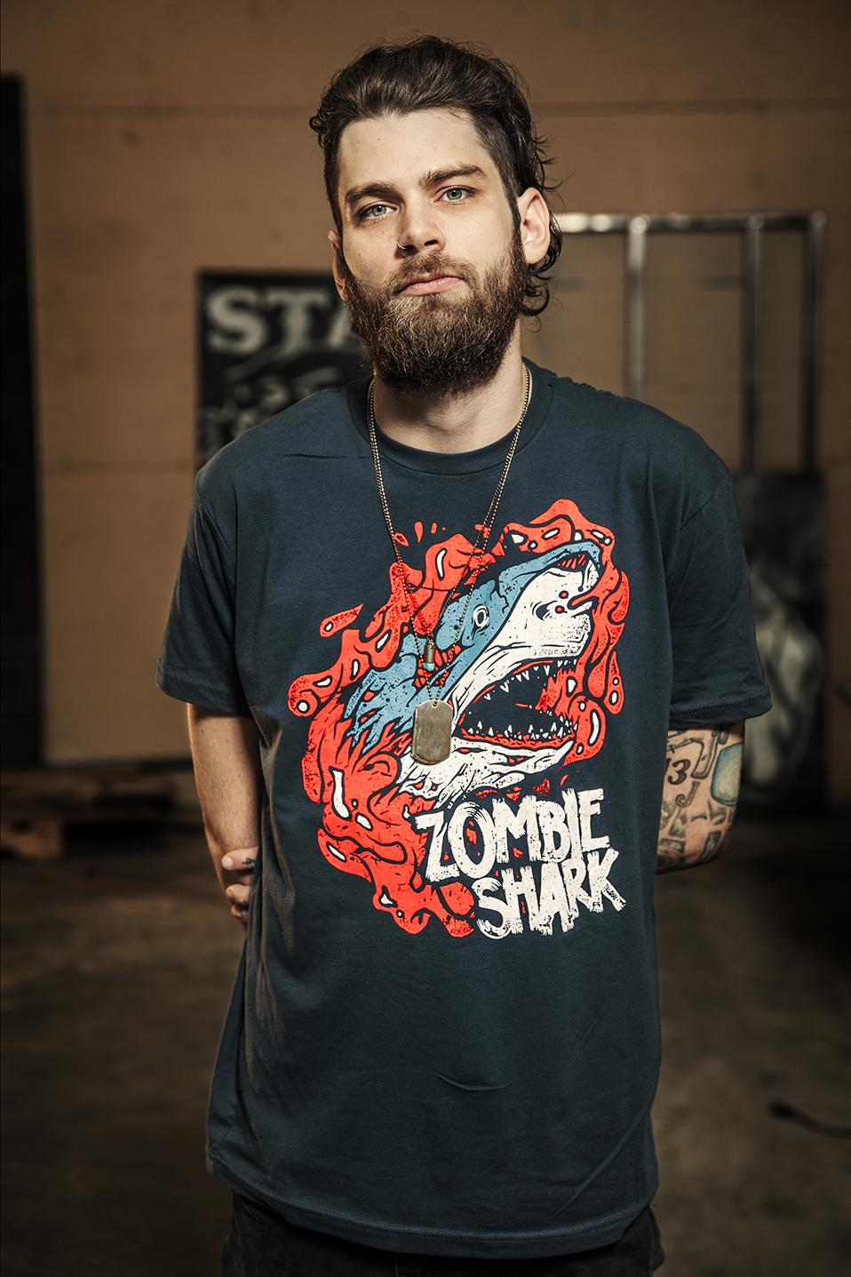 Josh McLin Zombie Shark Movie Shirt